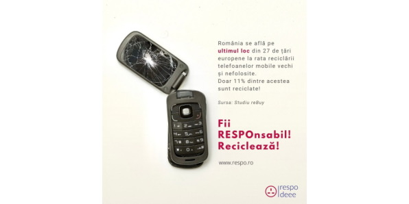 90% din componentele unui telefon mobil pot fi reciclate, salvând astfel mediul și industria viitorului